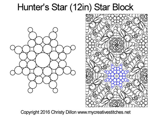 Hunter's quilting ideas for star blocks