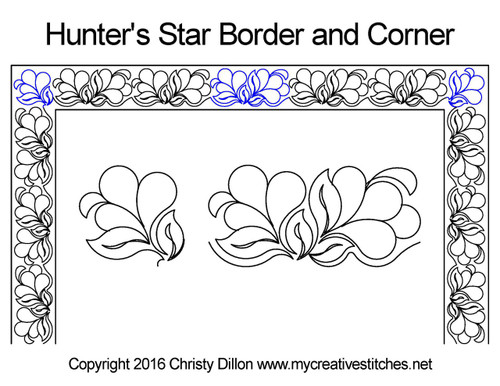 Hunter's star border & corner quilt pattern