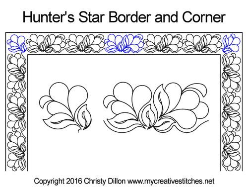 Hunter's Star Border and Corner