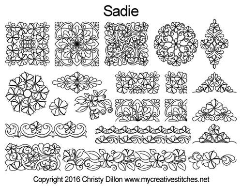 Sadie computerized quilting design set