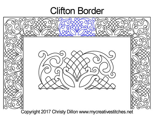Clifton border quilting pattern