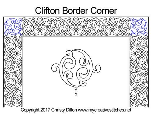 Clifton border & corner quilt pattern
