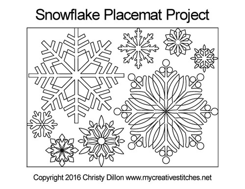 Snowflake placemat free digital project