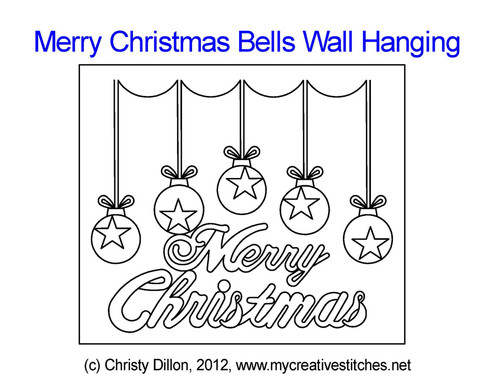 Merry Christmas bells wall hanging quilting project