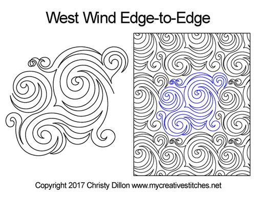 West wind edge to edge quilt patterns