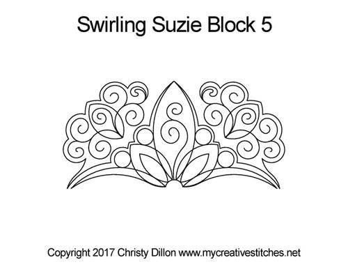 Swirling suzie half block 5 quilting patterns