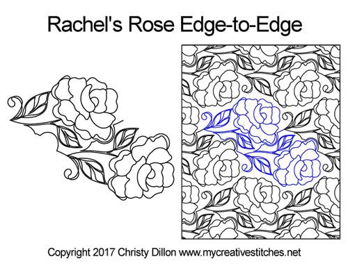 Rachel's rose edge to edge quilting designs