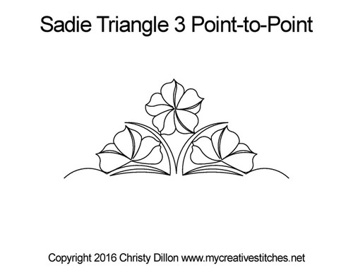 Sadie triangle 3 point to point quilt pattern