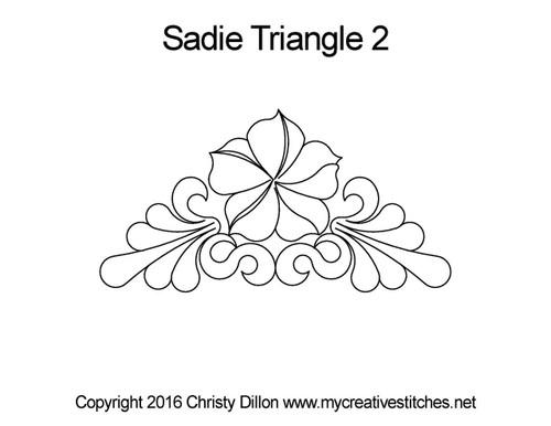 Sadie digitized triangle 2 quilting pattern