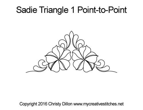 Sadie triangle 1 p2p quilting design