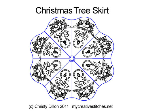 Christmas tree skirt quilting designs