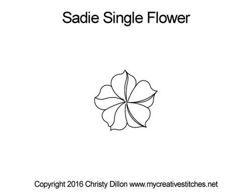 Sadie single flower quilting design