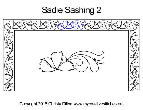 Sadie digitized sashing 2 quilting design