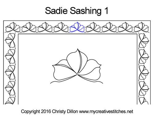 Sadie sashing quilting pattern