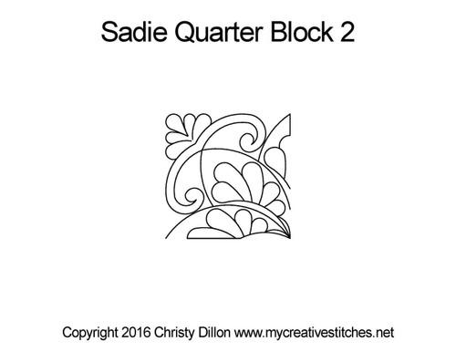 Sadie quarter block 2 quilt designs