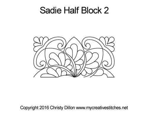 Sadie half block 2 quilting patterns