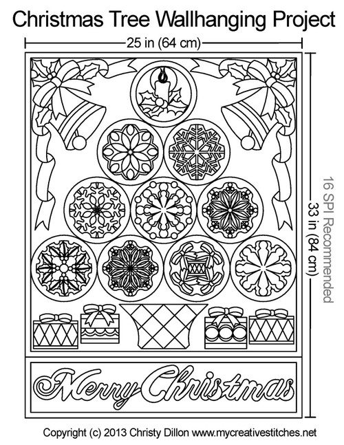 Christmas tree wallhanging quilt projects