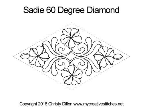 Sadie 60 degree diamond quilt design