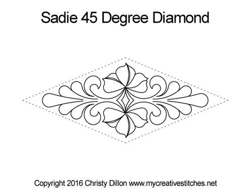 Sadie 45 Degree Diamond Block