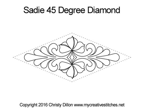 Sadie 45 degree diamond quilt design