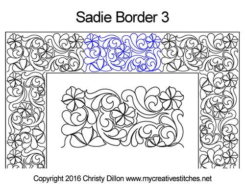 Sadie digital border 3 quilting patterns