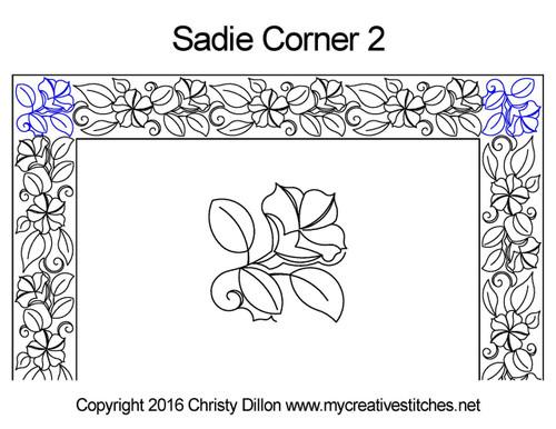 Sadie computerized corner 2 quilt pattern