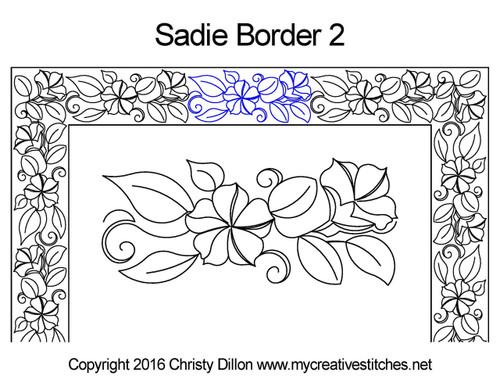 Sadie digital border 2 quilting patterns