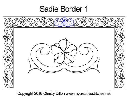 Sadie digitized border 1 quilting pattern