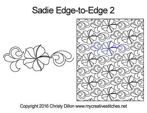 Sadie edge to edge 2 digital quilt patterns