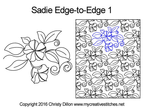 Sadie edge to edge 1 digital quilt patterns