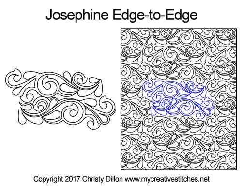 Josephine edge to edge digital quilt design