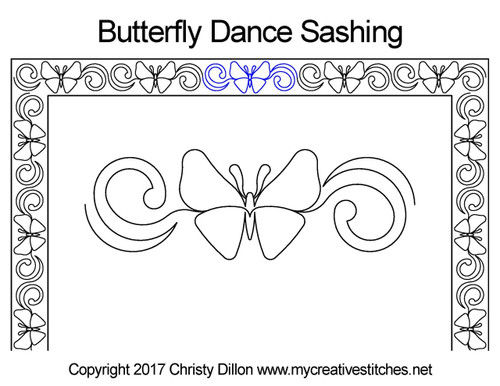 Butterfly dance sashing quilt design