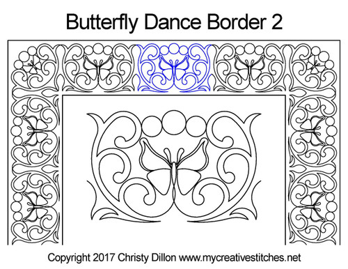 Butterfly dancer border 2 quilting pattern