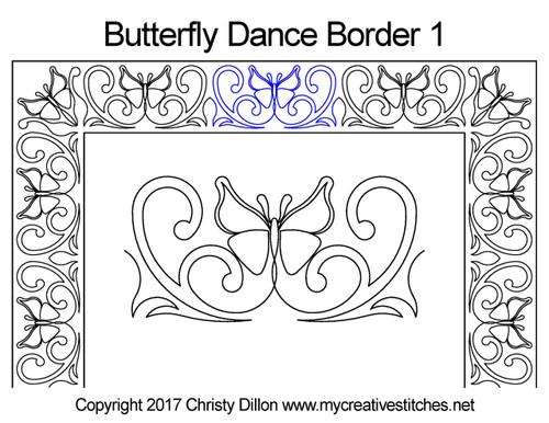 Butterfly dancer border 1 quilt design