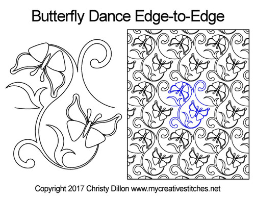 Butterfly dance edge to edge designs