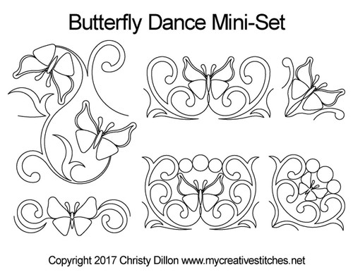 Butterfly dance free arm mini quilting set