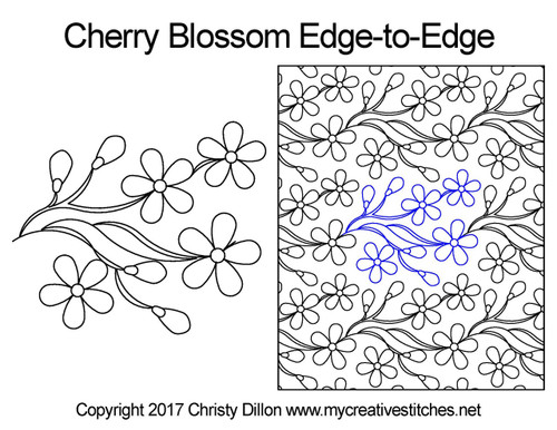 Cherry blossom edge to edge pattern