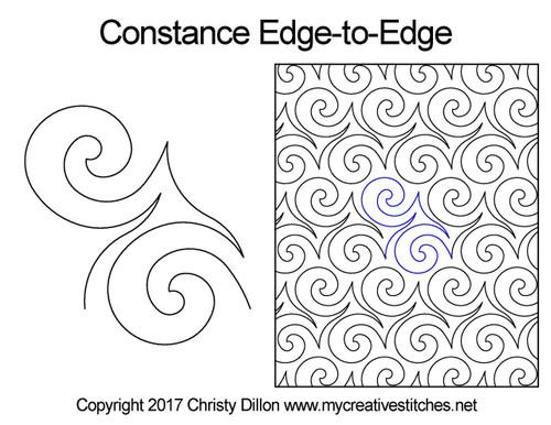 Constance edge to edge quilt designs