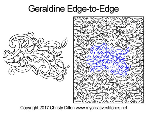 Geraldine edge to edge quilt patterns