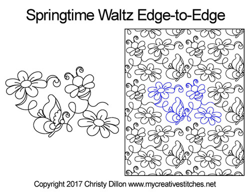 Springtime waltz edge to edge designs