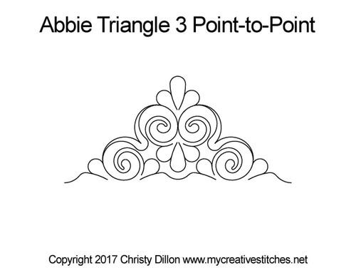 Abbie triangle 3 p2p quilt design