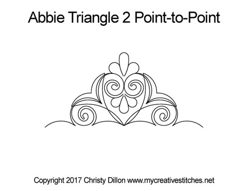 Abbie triangle 2 p2p quilting pattern