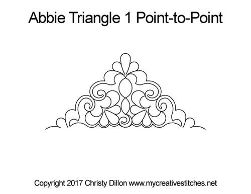 Abbie triangle 1 p2p quilt design