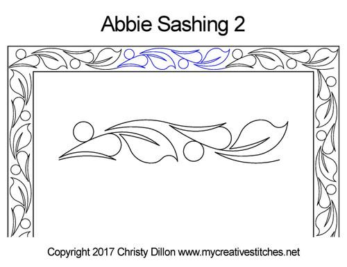 Abbie sashing quilt pattern