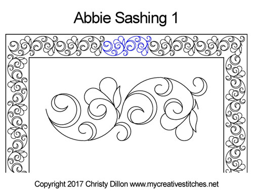 Abbie digitized sashing 1 quilt design
