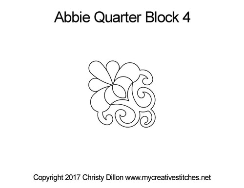Abbie quarter block 4 quilt patterns
