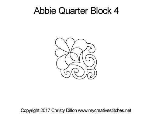 Abbie quarter block 4 quilt patterns