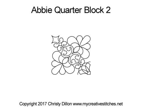 Abbie quarter block 2 quilt patterns
