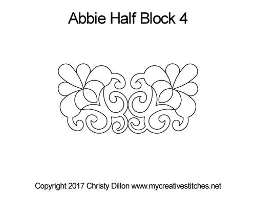 Abbie half block 4 quilting pattern