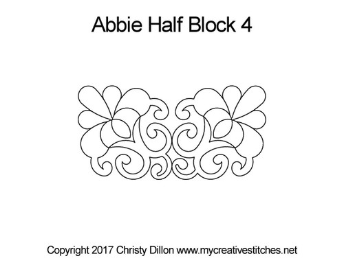 Abbie half block 4 quilting pattern
